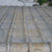 屋根瓦の色あせや、表面のコケ01