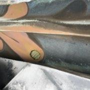 谷樋、谷板金水切りのサビ、穴03