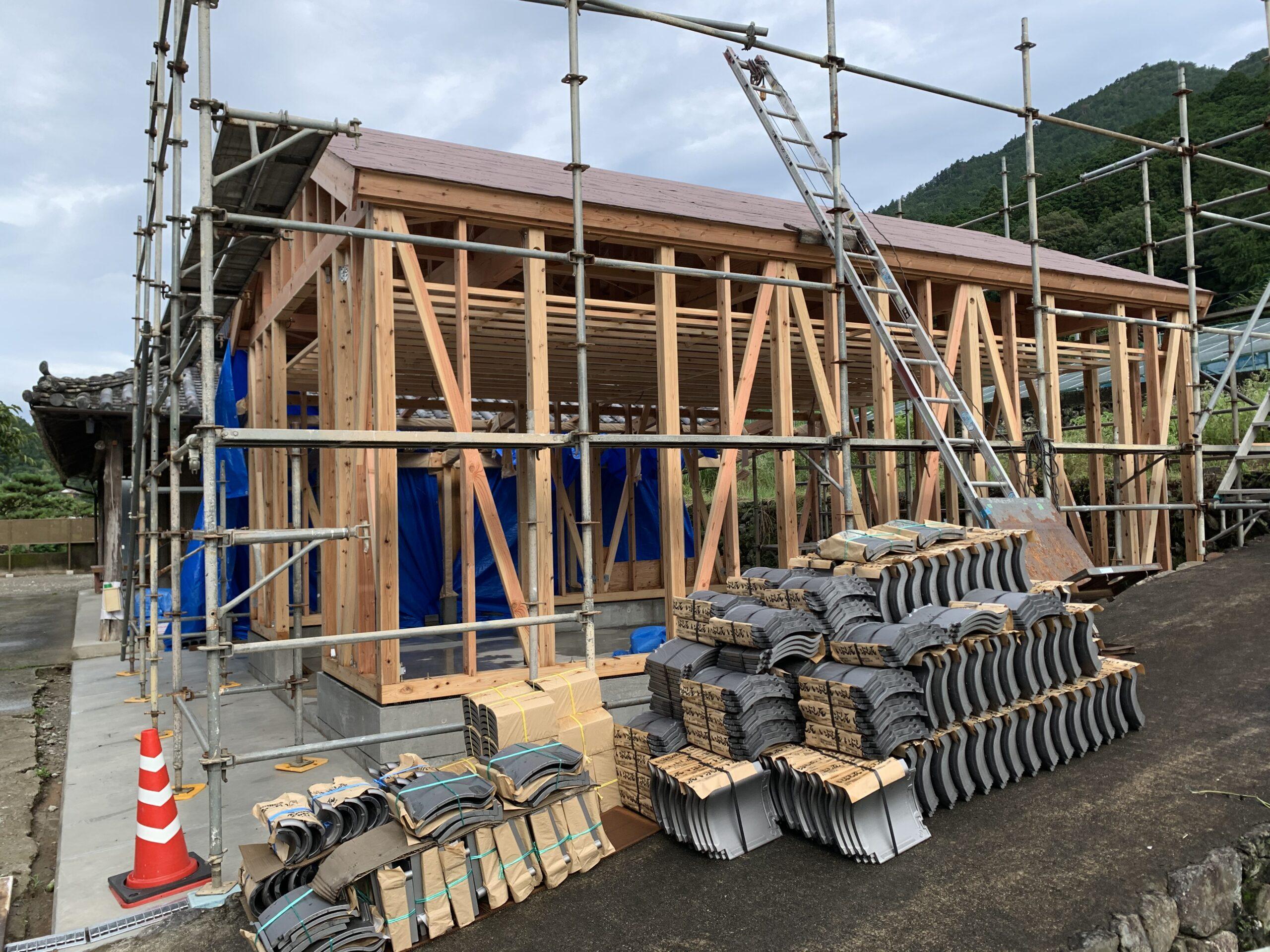 新築屋根瓦工事