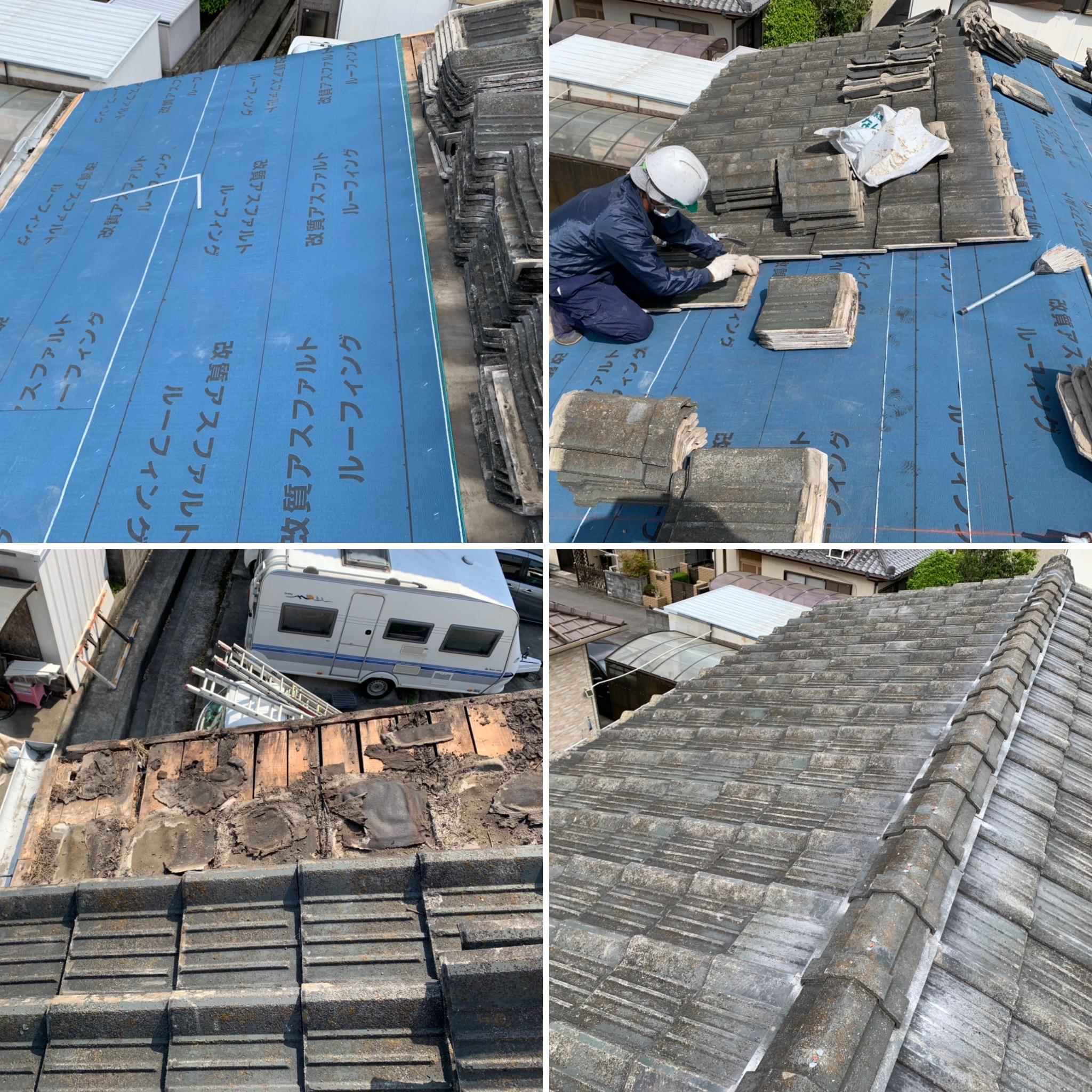 雨漏り屋根ふき直し工事