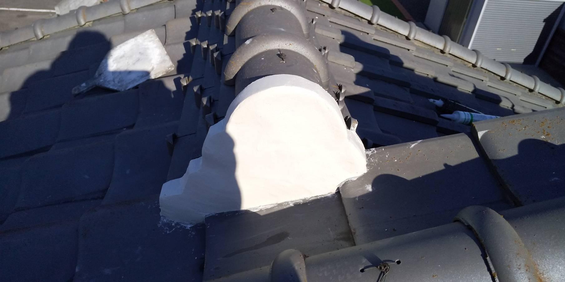 屋根漆喰修理