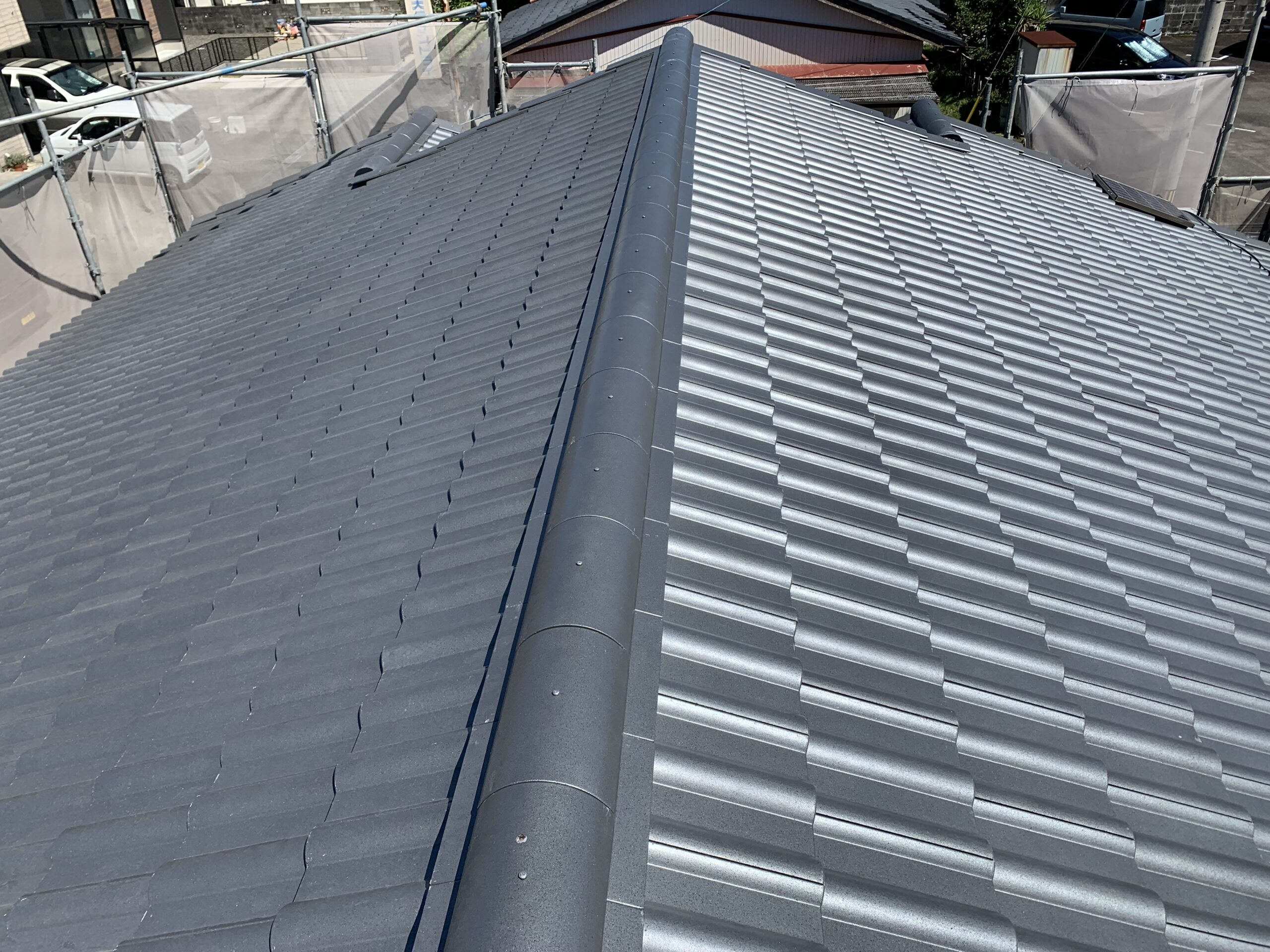屋根瓦葺き替え工事⑦瓦ふき完了
